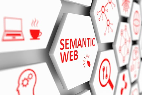 SEMANTIC WEB concept cell blurred background 3d illustration