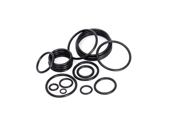 Many types of rubber o-rings