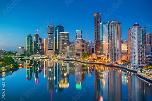 Fototapete Brisbane. Cityscape image of Brisbane skyline, Australia during sunrise.