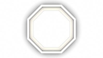 White blank frame on white background. 3d rendering