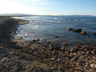Playa de Punta del Fangar (Deltebre) en el Delta del Ebro, Tarragona (Cataluña,España)