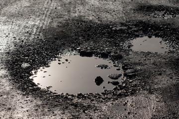 pothole resembling lunar surface crater