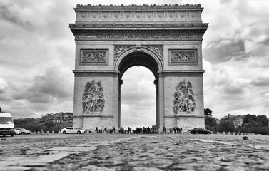 Arco di Trionfo Parigi ripresa a terra