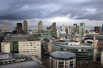 Breathtaking panorama of London from Saint Paul Cathedral, Great Britain