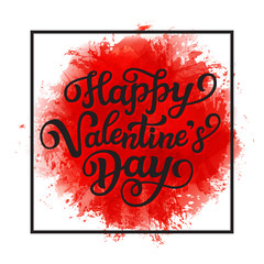 Happy Valentine' Day lettering text