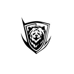 black bear icon vector illutration