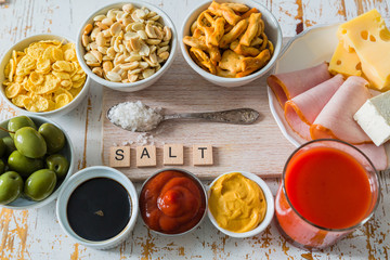 Selection of salt high in salt