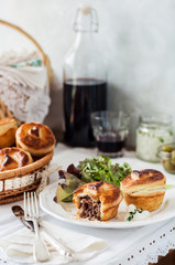 Individual Puff Pastry Meat Pies
