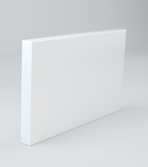 White package mock up model shadow. Blank cardboard or white paper matchbook container box package template. 3D rendering.