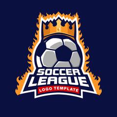 football league logo template, soccer badge tournament symbol