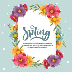 spring card with romantic floral
