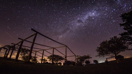 Milky way at countryside