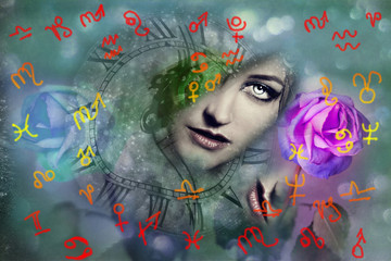 Woman and astrology