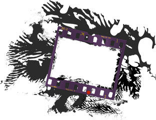 Wall Mural - frame of film, grungy photo frame, super grunge texture, vector, free space for pctures
