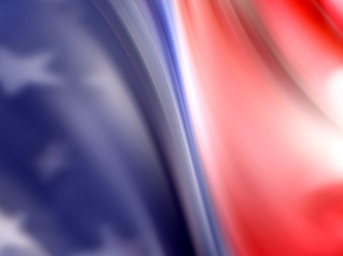 Abstract Image of American Flag as a background template