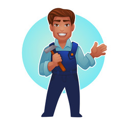 cartoon worker, vector proffessional man for your mascot