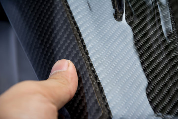 Poster Motorise Carbon fiber composite product for motor sport