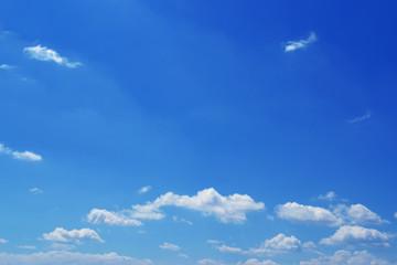 Blue sky clouds sun