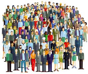 Menschenmenge und Personengruppen, Illustration