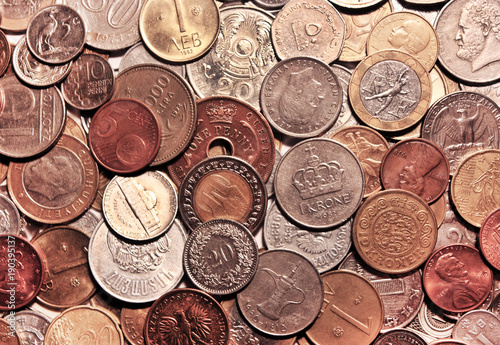 Background From Coins The Currencies Of Different Countries As A
