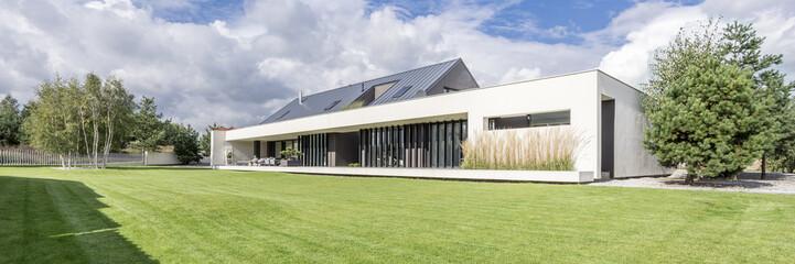 Modern construction of big luxurious home