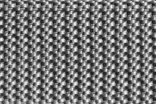 Closeup texture of nylon fabric belt black white colour. Suitable for making backgrounds, creative articles.