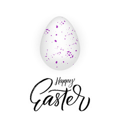 Happy Easter poster with modern brush calligraphy phrase.