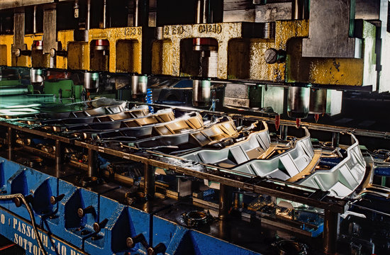 Industrial press for sheet metal stamping
