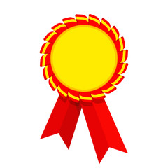 Ribbon awards. Trophy and reward, competition and victory, success and achievement. Flat vector cartoon illustration. Objects isolated on white background.