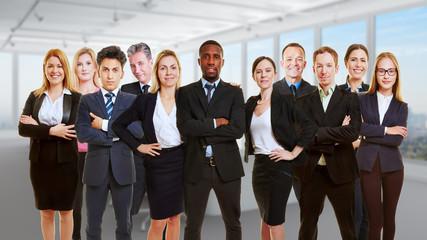 Teamwork Konzept mit Business Team
