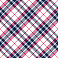 Plaid seamless pattern for textile. Fabric texture. Vector background eps10