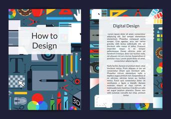 Vector digital art design studio