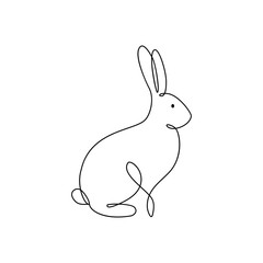 One line rabbit