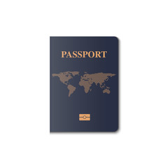 Passport cover vector design, Identification citizen