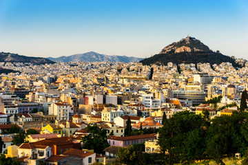 view of Buildings around Athens city, Greece
