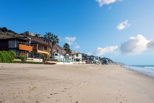 maisons sur la plage de Malibu à Los Angeles