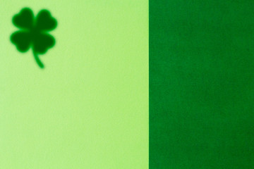 Picture of Saint Patricks Day background with blurred clover