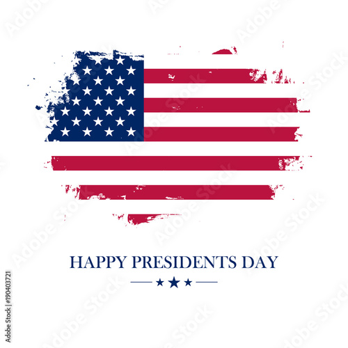 Usa happy presidents day greeting card with brush stroke background usa happy presidents day greeting card with brush stroke background in american national flag colors m4hsunfo