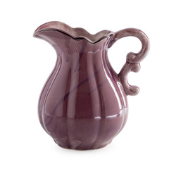 Ceramic jug isolated on a white background