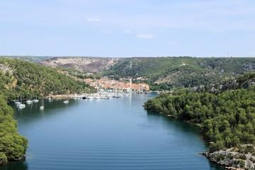 view on Skradin, Croatia