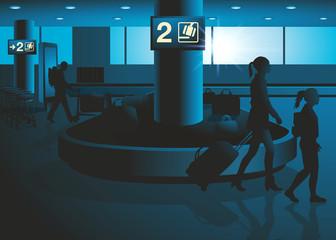 aéroport - voyage - vacances - bagage - avion - tourisme - touriste - compagnie aérienne