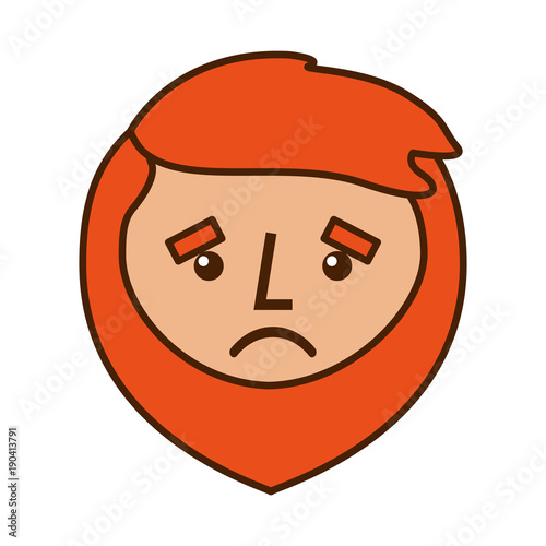 Cartoon sad face man beard character vector illustration stock cartoon sad face man beard character vector illustration voltagebd Images