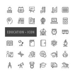 Education icons set, Vector illustration