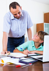 Teenager having lesson with teacher