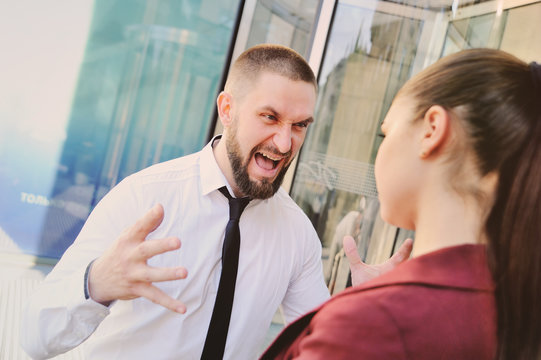 boss screams and scolds his employees