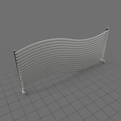 Wide, curved towel radiator