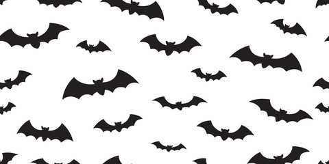 Bat seamless pattern vector Halloween isolated icon doodle wallpaper background