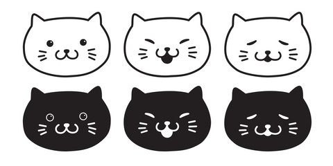 Cat vector kitten icon logo cartoon calico Halloween illustration doodle
