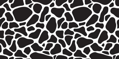 Cow skin seamless pattern Dalmatians dog isolated animal skin texture zebra giraffe wallpaper background camouflage