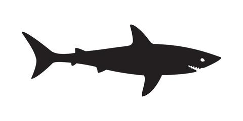 shark vector logo fish icon illustration character